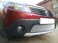 Защита радиатора для Renault Sandero Stepway 2010-2014 chrome