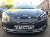 Защита радиатора для KIA Ceed II 2012- chrome низ