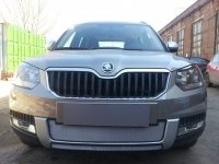Защита радиатора для Skoda Yeti Outdoor 2014- chrome центральная