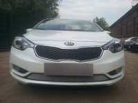 Защита радиатора для KIA Cerato 2013- chrome низ