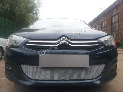 Защита радиатора для Citroen C4 sedan 2013- chrome