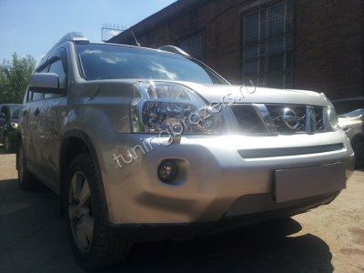 Защита радиатора для Nissan X-Trail 2007-2010  chrome низ
