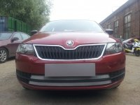 Защита радиатора для Skoda Rapid 2014- chrome