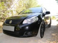 Защита радиатора для Suzuki SX4 sedan 2007-2011 black