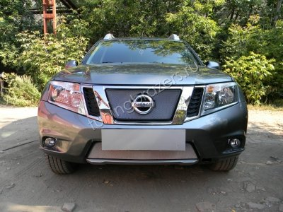 Защита радиатора для Nissan Terrano 2014 chrome низ