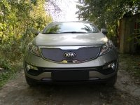 Защита радиатора для KIA Sportage 2010- chrome низ