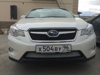 Защита радиатора для Subaru XV 2012- chrome