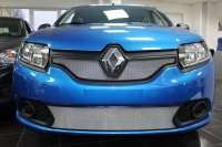 Защита радиатора для Renault Sandero 2014- chrome низ