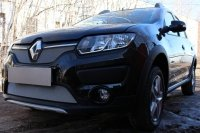 Защита радиатора для Renault Sandero Stepway 2014- chrome низ