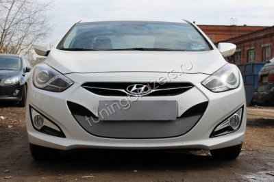 Защита радиатора для Hyundai i40  2012- chrome