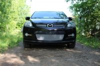 Защита радиатора для Mazda CX-7 2006-2010  chrome низ