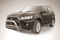 Кенгурятник d76 низкий MITSUBISHI OUTLANDER XL NEW (2010)