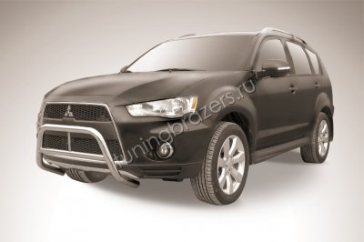 Кенгурятник d57 низкий MITSUBISHI OUTLANDER XL NEW (2010)
