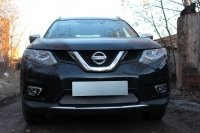 Защита радиатора для Nissan X-Trail T32 2015-  chrome низ