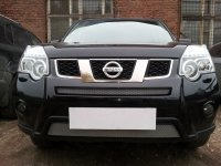 Защита радиатора для Nissan X-Trail 2011-2014 chrome середина