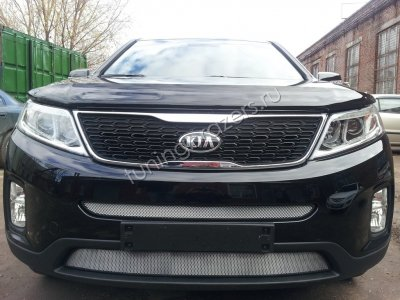 Защита радиатора для KIA Sorento 2013- chrome низ