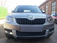 Защита радиатора для Skoda Yeti Outdoor 2014- black центральная