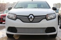 Защита радиатора для Renault Logan 2014- (Access, Confort) chrome низ