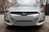 Защита радиатора для Hyundai i30  2013- chrome