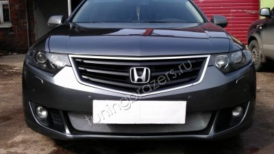 Защита радиатора для Honda Accord 8 2008-2012г.в. до рестайлинг (Хром)