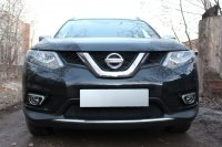Защита радиатора для Nissan X-Trail T32 2015- black низ